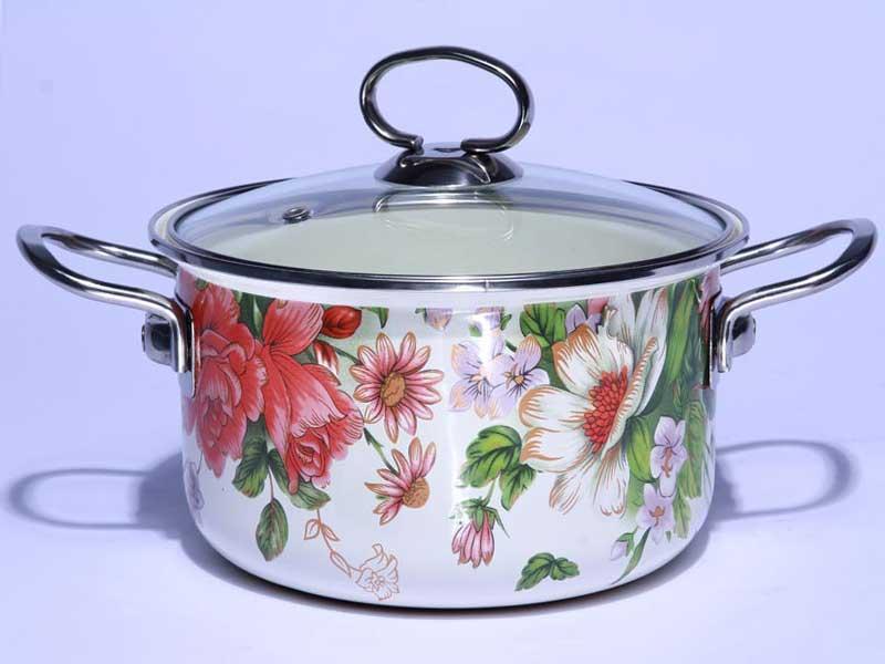 直壁汤锅--花开富贵